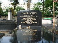 Tombe de Gérard Oury au cimetière de Montparnasse à Paris.JPG