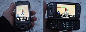 TomTom - TomTom Navigator 7 running on a HTC TyTN II (Windows Mobile)