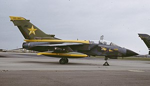 Stuart Peach - A Tornado GR1 in 1988: Peach served as a navigator on this type of aircraft