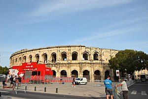 2017 Vuelta a España - The Arena of Nîmes in Nîmes, France, hosted the team presentation ceremony on 19 August.