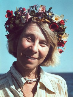 Tove Jansson with flower crown 001.tiff