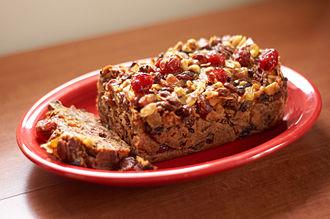 Fruitcake - A traditional fruitcake