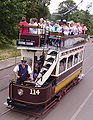 Tram in the Beamish Museum.JPG