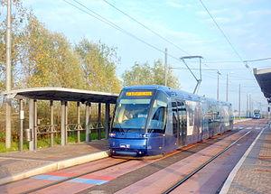 Trams in Padua - Image: Tram translohr padffova 9