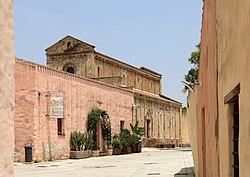 Tratalias vecchia, 07 veduta della chiesa di santa maria di monserrato.jpg