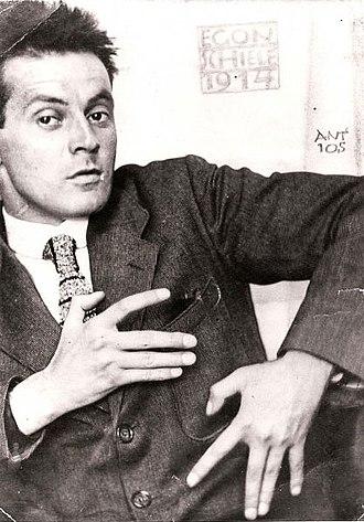 Egon Schiele - Photograph of Egon Schiele, 1914