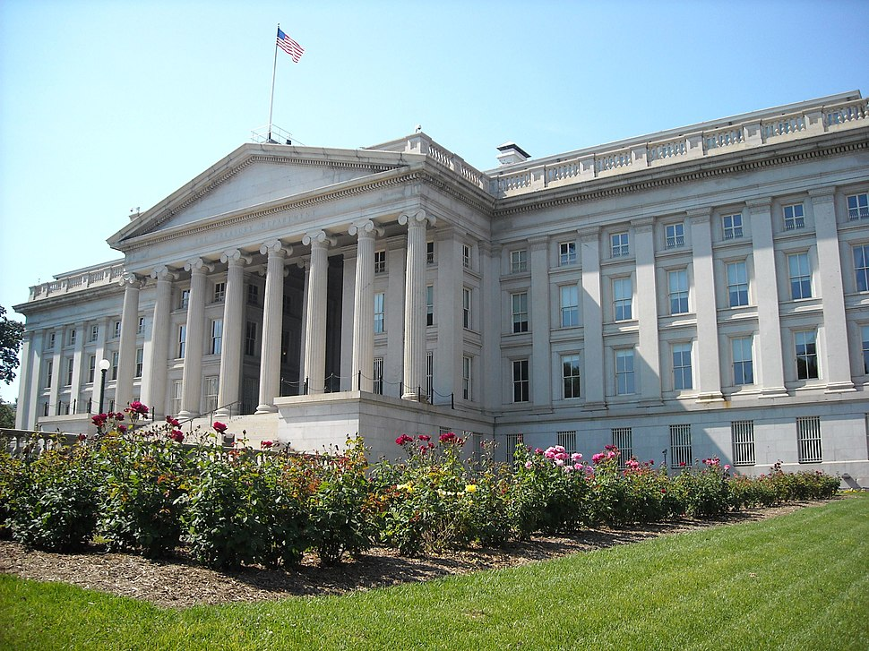 Treasury Department rear view