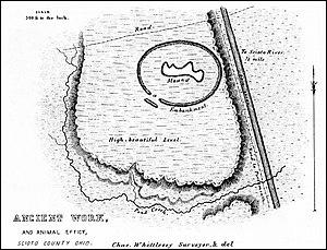Tremper Mound and Works - Squier and Davis diagram of Tremper