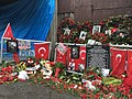 Tributes outside Reina nightclub after a terrorist attack, January 17, 2017.jpg