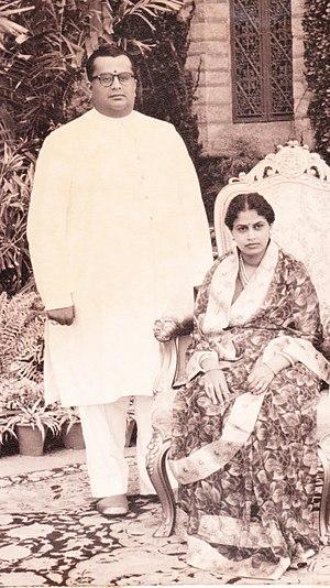Tripura Sundari Ammani - Maharani Tripura Sundari Ammani with Maharaja Jayachamarajendra Wadiyar
