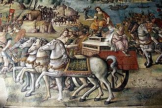 Marcus Valerius Laevinus - Triumph of Rome over Sicily by Jacopo Ripanda, depicting Rome's conquest of Sicily.