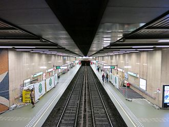 Trône/Troon metro station - Trône/Troon metro station in 2015