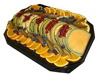 Fruit salad - Fruit salad served on a platter