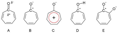 ... トロピリウム イオン 環 c が