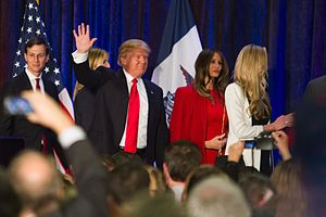 Jared Kushner - Kushner and the Trump family, pictured at a campaign victory party in Des Moines, Iowa, on February 1, 2016