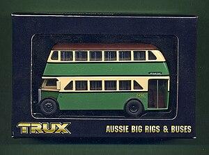 Trax Models - An AEC Regent double decker bus model in the Trux line.