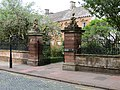 Tullie House, Carlisle, gates and railings.JPG