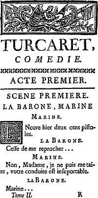 Turcaret cover