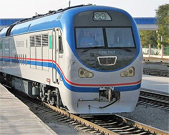 Railways in Turkmenistan - Turkmenistan Railways Diesel locomotive CKD9A