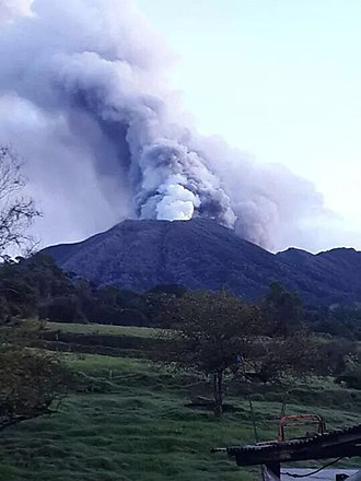 Turrialba Volcano - Image: Turrialba volcano eruption 2014. Costa Rica (3)