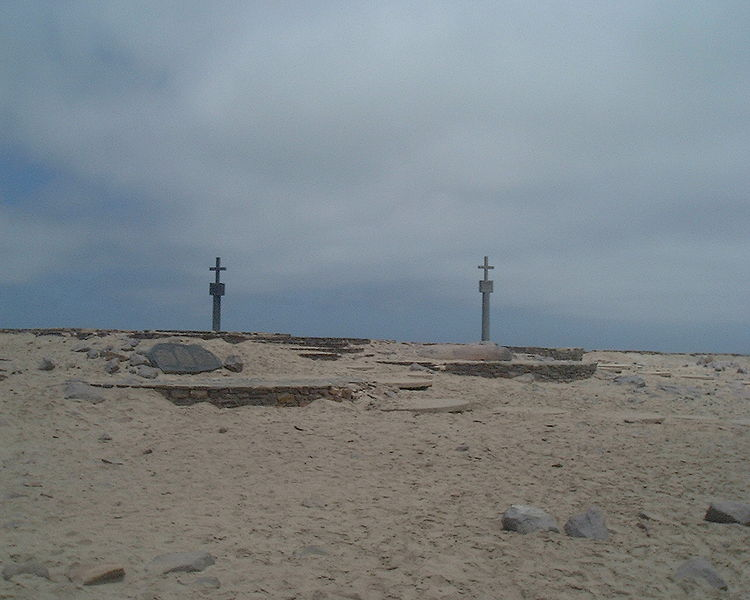 File:Two stone crosses on Cape Cross.jpg