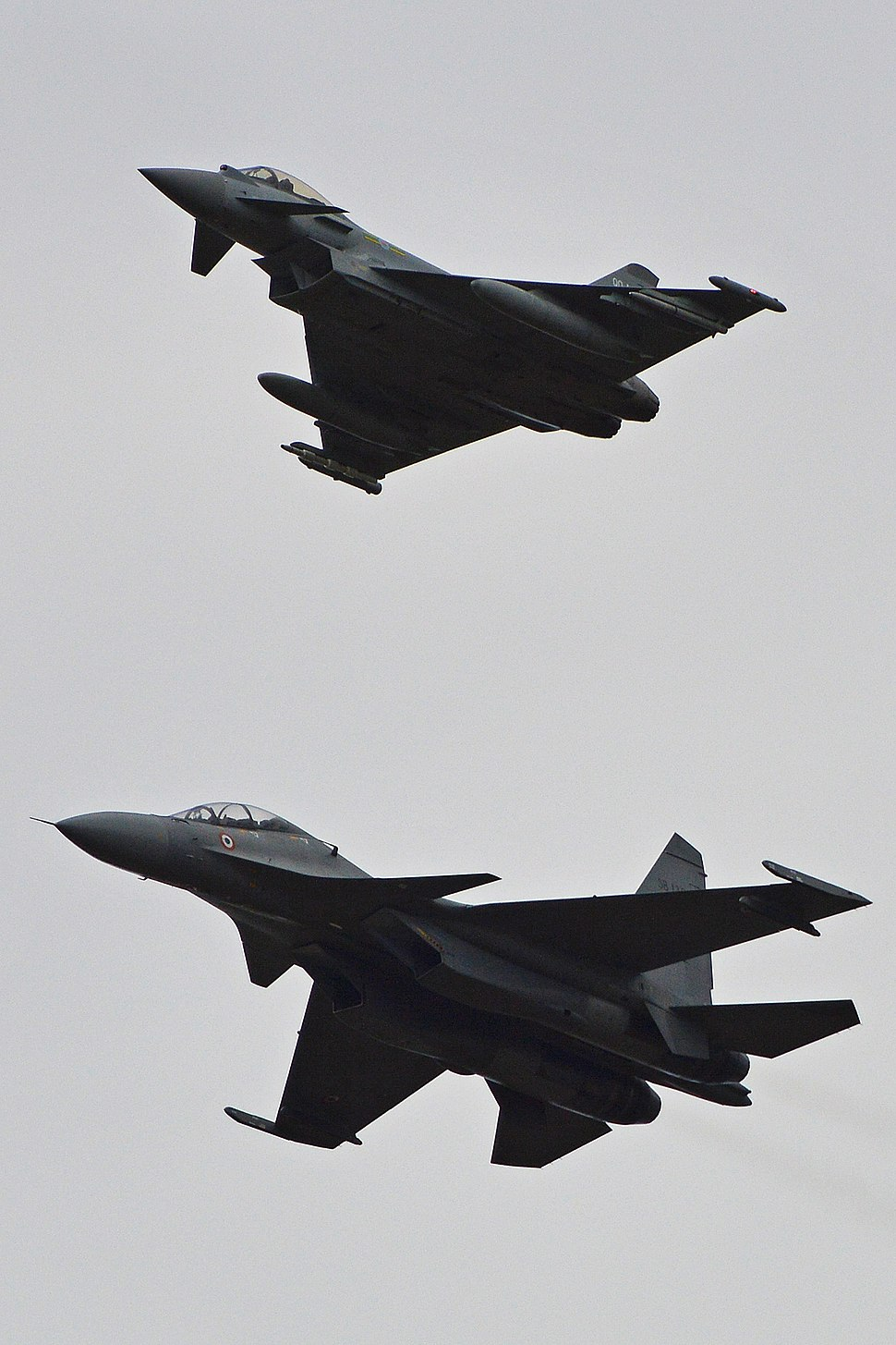 Typhoon and Su-30MKI-3 formation