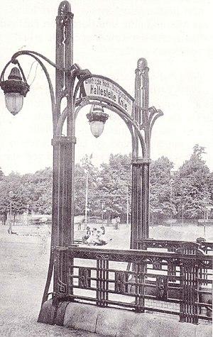 Ernst-Reuter-Platz (Berlin U-Bahn) - Haltestelle Knie, entrance, 1904