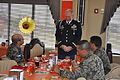 U.S. Army Col. Thomas Boccardi, the commander of Joint Task Force-Bravo, visits with leaders from the Honduran air force during a Thanksgiving Day meal served at the dining facility at Soto Cano Air Base 131128-F-BZ556-200.jpg