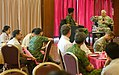 U.S. Chief of Staff of the Army, Gen. George W. Casey Jr., right, addresses questions, from junior Singaporean military officers, during a luncheon, in Singapore, Aug. 26, 2009 090826-A-VO565-010.jpg