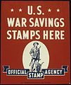 U.S. WAR SAVINGS STAMPS HERE (Official stamp agency, sticker) - NARA - 515916.jpg