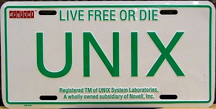 Promotional license plate by Digital Equipment Corporation UNIX-Licence-Plate.JPG