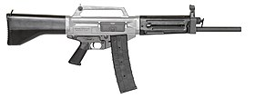 The Daewoo USAS-12 automatic shotgun.