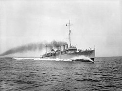 USS Brooks (DD-232) underway during trials in 1920.jpg