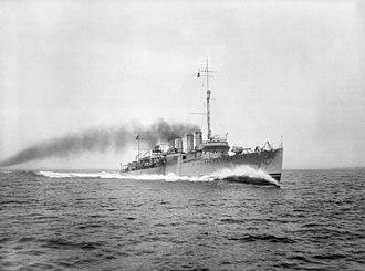 USS Brooks (DD-232) - Image: USS Brooks (DD 232) underway during trials in 1920