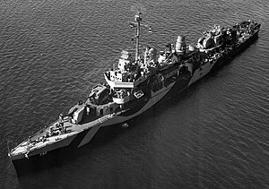 USS Callaghan (DD-792) off San Pedro, California (USA), on 4 February 1944 (BS 61307).jpg
