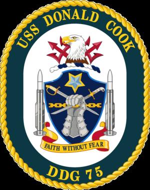 USS Donald Cook - Image: USS Donald Cook DDG 75 Crest