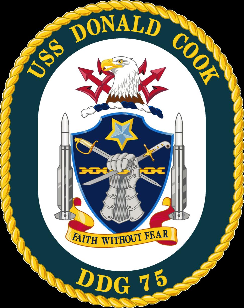 USS Donald Cook DDG-75 Crest
