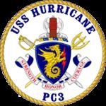 USS Hurricane PC-3 Crest.png