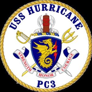 USS Hurricane (PC-3) - Image: USS Hurricane PC 3 Crest