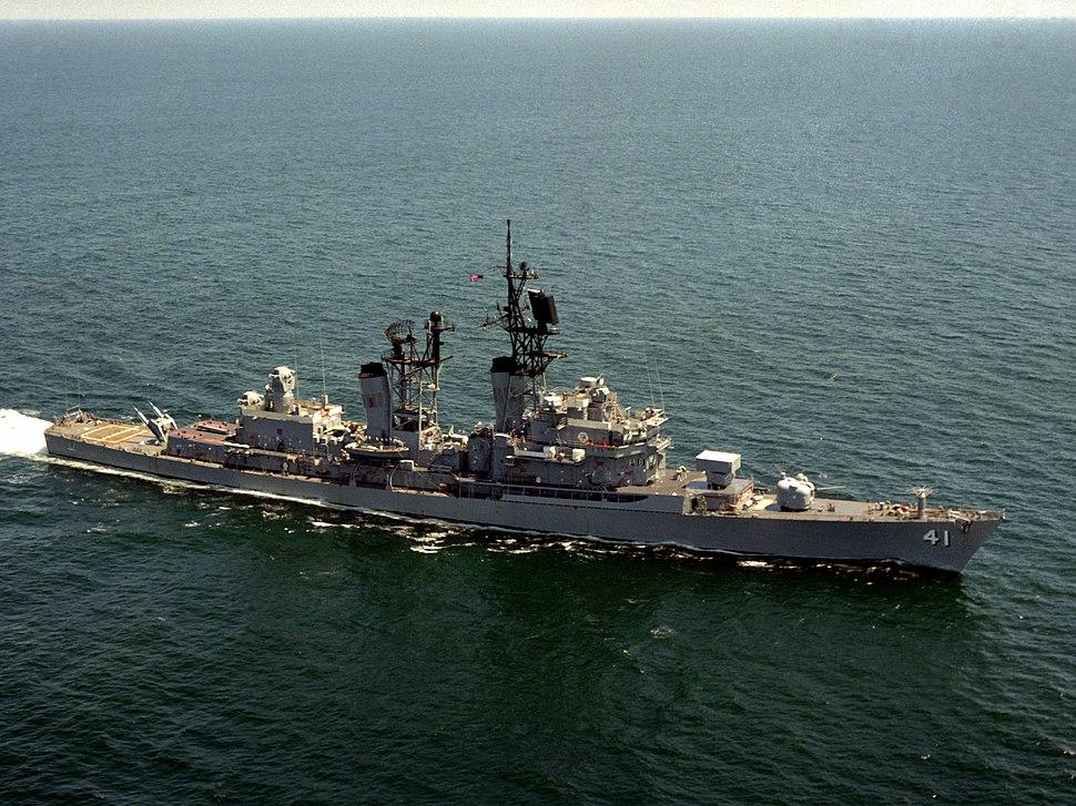 USS King (DDG-41) underway in 1983