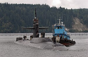 USS Parche (SSN-683) - Parche returns to port for the last time at Naval Base Kitsap at Bangor, Washington, on 20 September 2004.