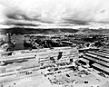 USS Saratoga (CV-3) and USS Langley (CVL-27) at Pearl Harbor, circa in January 1944 (80-G-221103).jpg