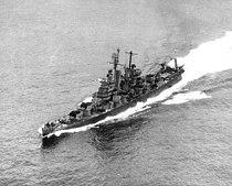 USS Vincennes (CL-64) underway in San Francisco Bay on 29 August 1945 (NH 98189).jpg