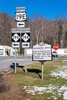 US Route E Wikipedia - Us 19e burnsville to spruce pine right of way map
