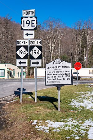 U.S. Route 19E - US 19E/NC194 in Cranberry, North Carolina