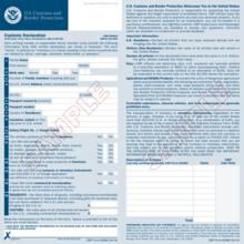 us customs and border protection form 6059b arrival card