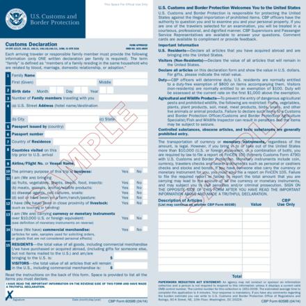 Customs declaration - Wikiwand