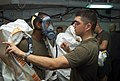 US Navy 020509-M-7364D-001 USS Essex - mock contamination drill.jpg