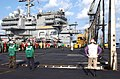 US Navy 021106-N-1810F-005 Barricade drill conducted aboard USS Kitty Hawk.jpg