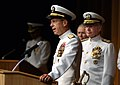 US Navy 050722-N-0962S-017 Adm. Mike Mullen reads his orders during the Chief of Naval Operations change of command ceremony.jpg